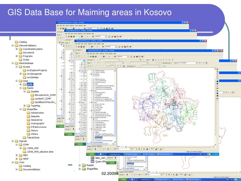GIS Data Base for Maiming areas in Kosovo
