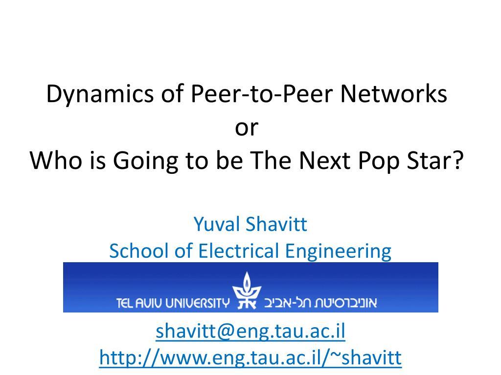 Dynamics of Peer-to-Peer Networks