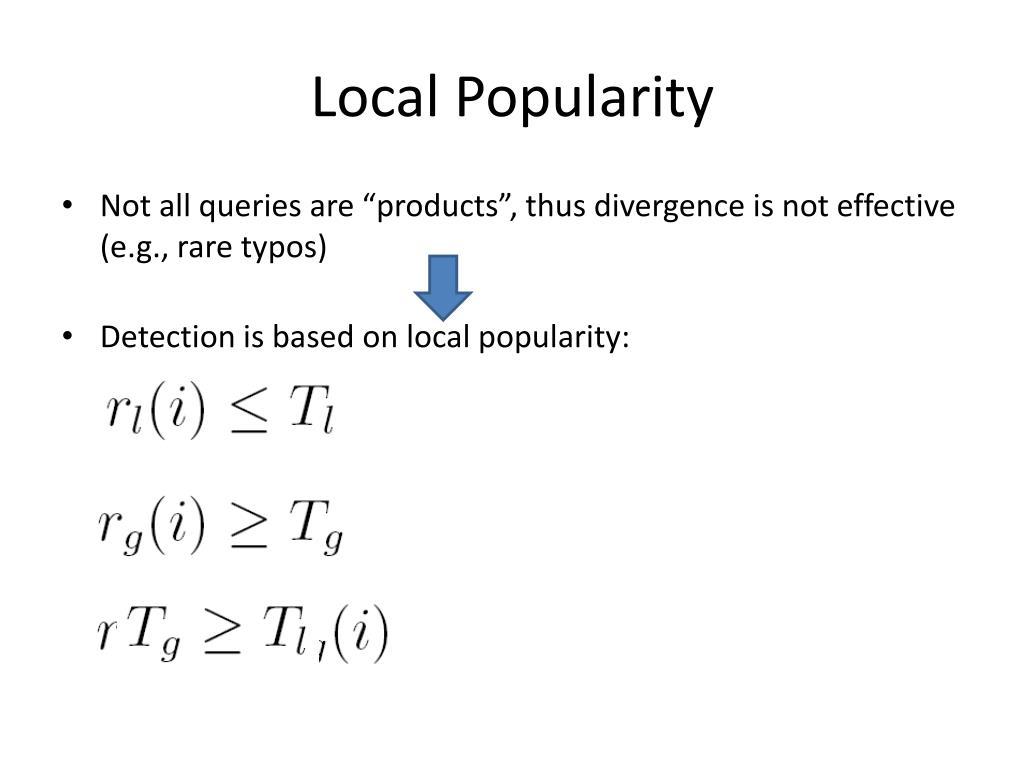 Local Popularity