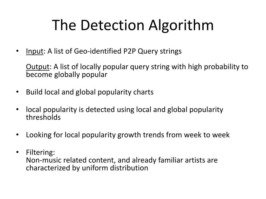 The Detection Algorithm