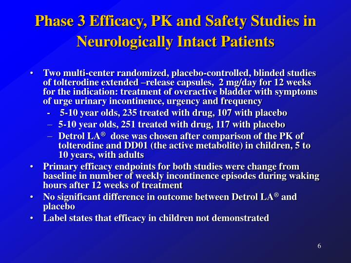 Phase 3 Efficacy, PK and Safety Studies in