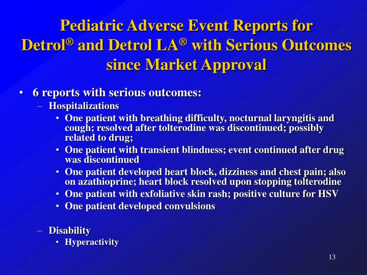 Pediatric Adverse Event Reports for