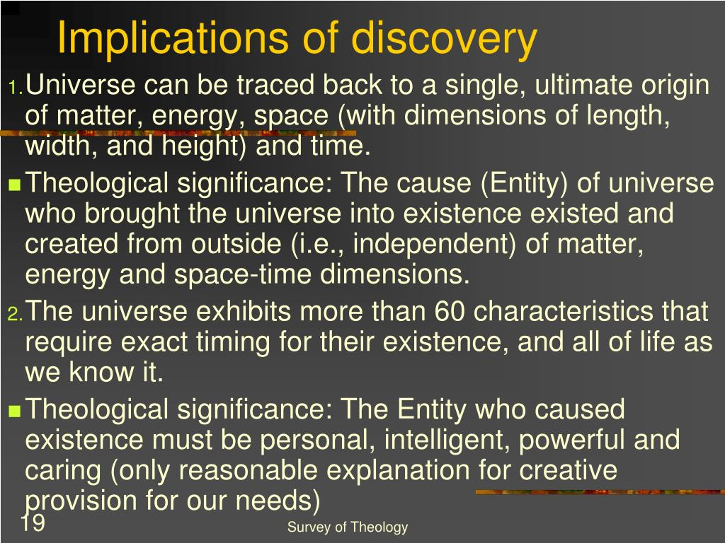 Implications of discovery