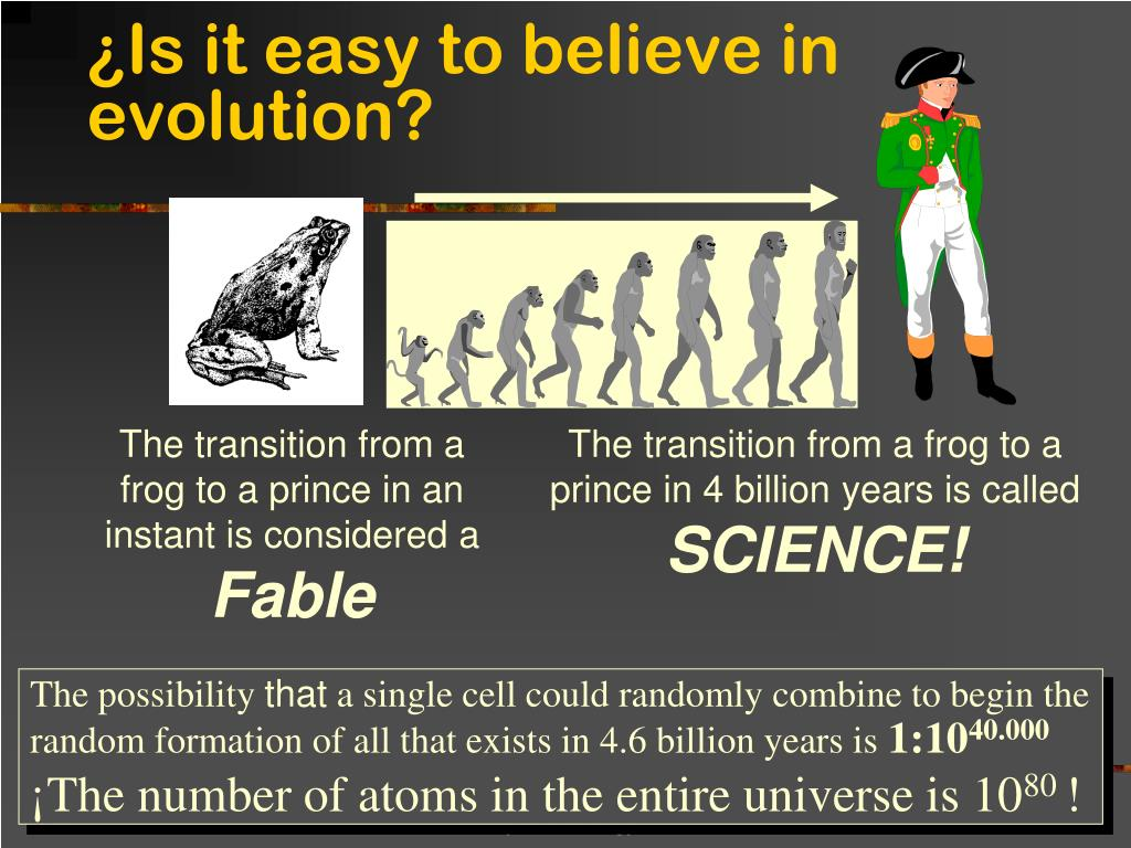 ¿Is it easy to believe in evolution?