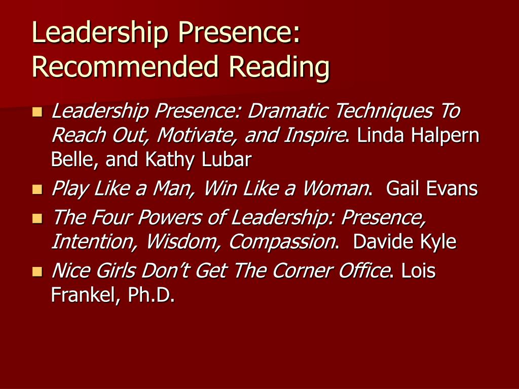 Leadership Presence: Recommended Reading