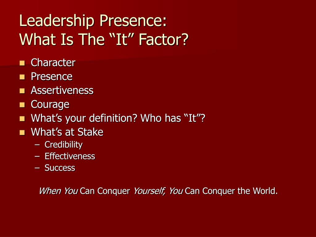 Leadership Presence: