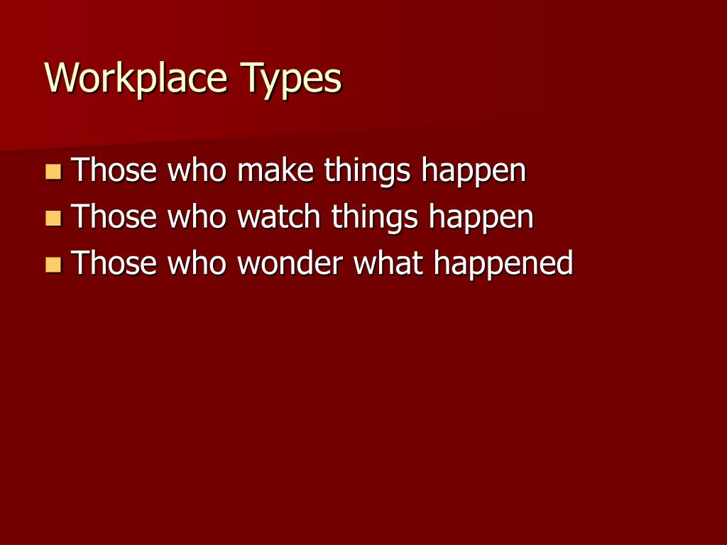 Workplace Types