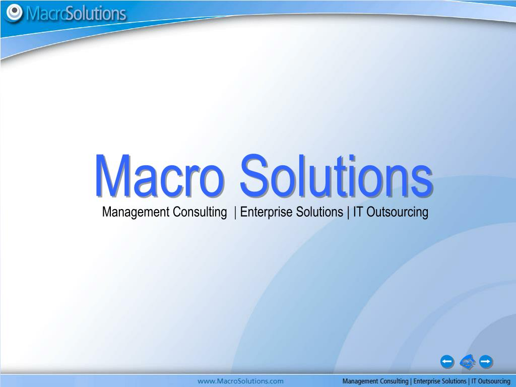 macro solutions