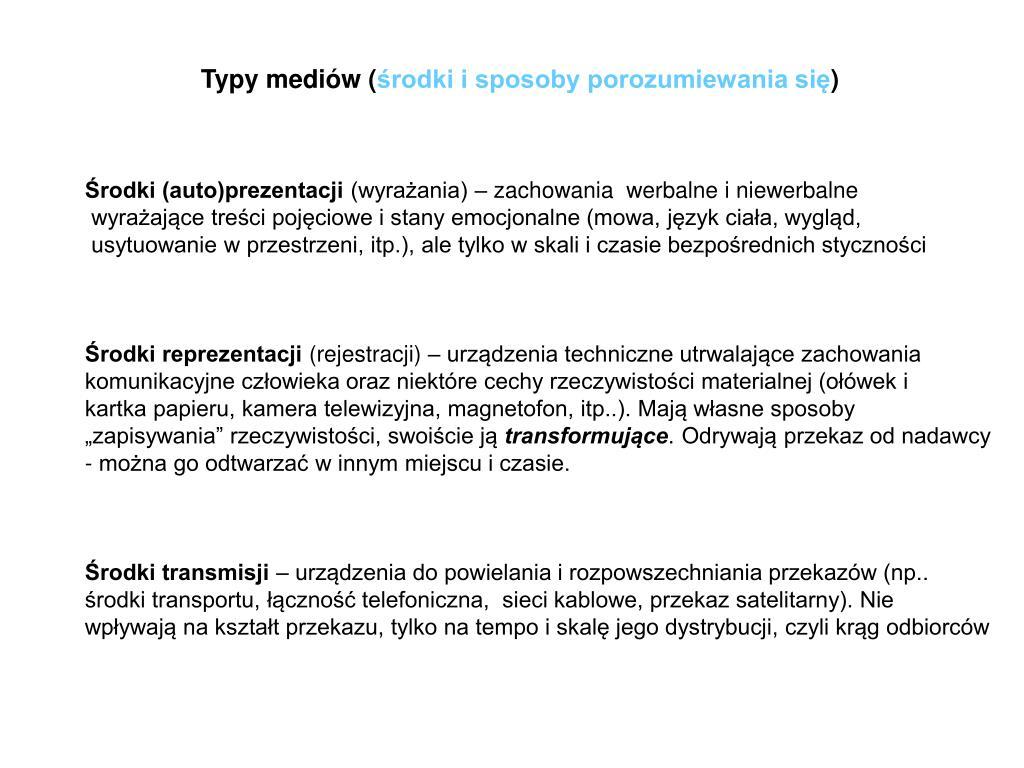 Typy mediów (