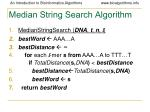 median string search algorithm