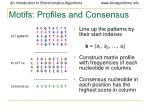 motifs profiles and consensus