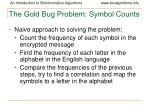 the gold bug problem symbol counts