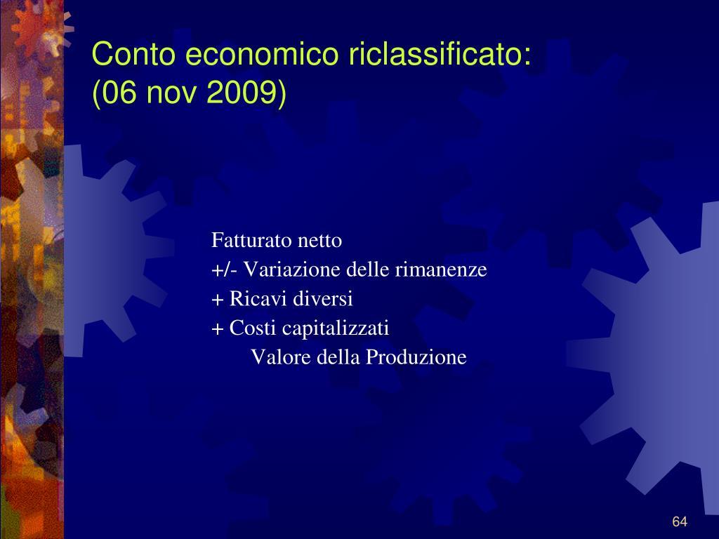 Conto economico riclassificato: