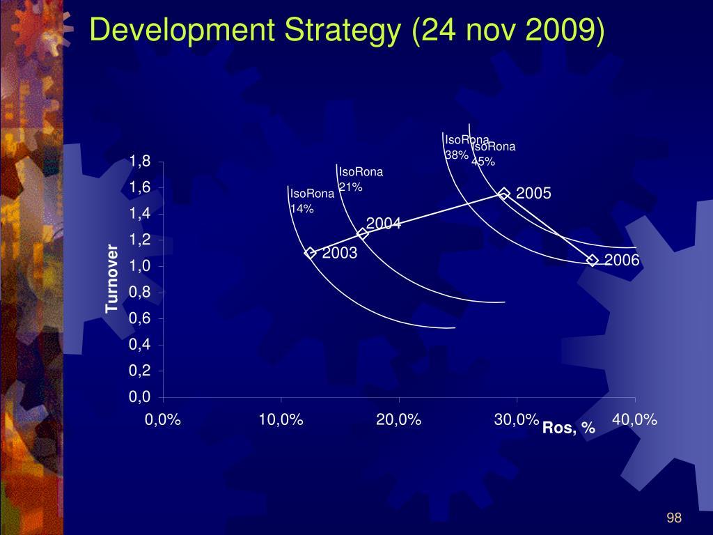 Development Strategy (24 nov 2009)