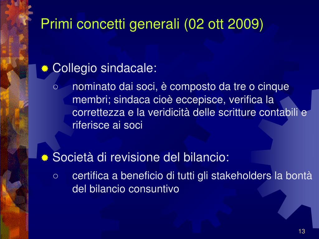 Primi concetti generali (02 ott 2009)