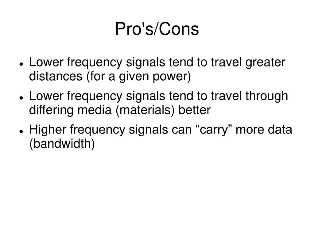 Pro's/Cons