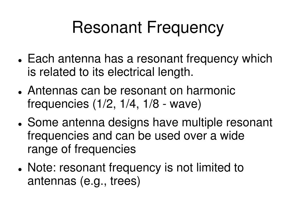 Resonant Frequency