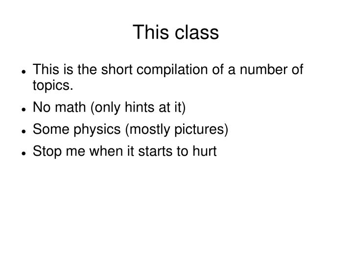 This class