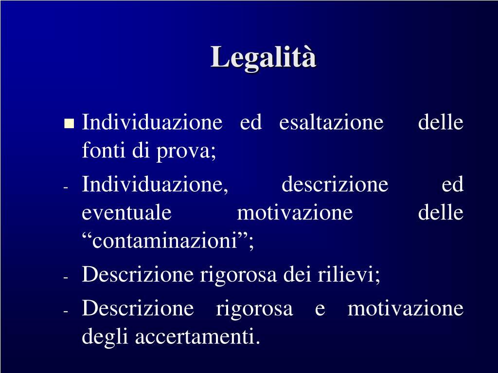 Legalità