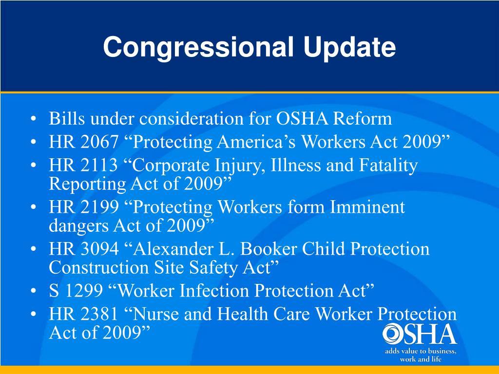 Congressional Update