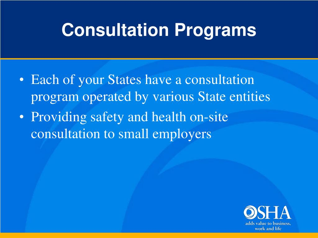 Consultation Programs