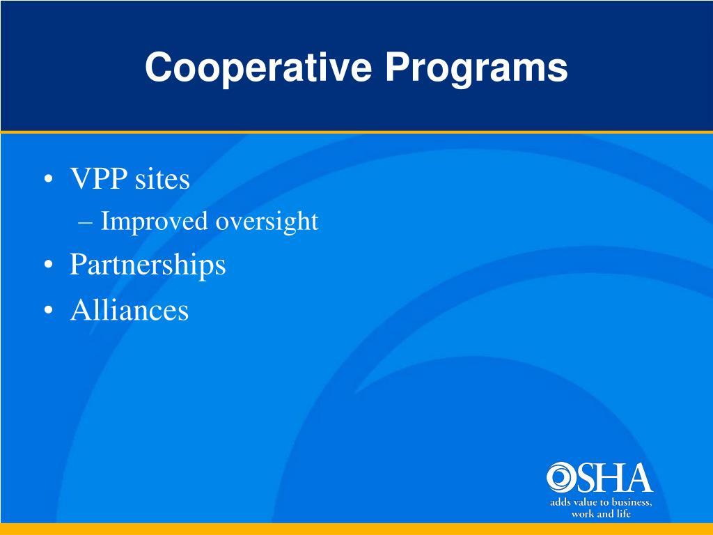 Cooperative Programs