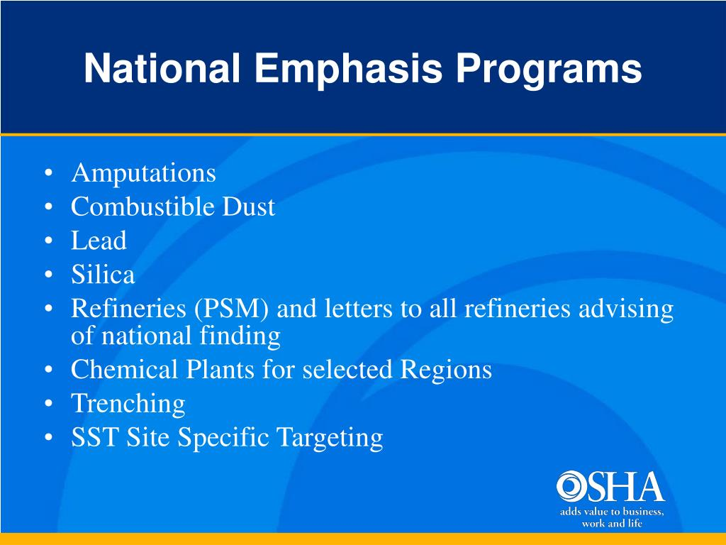 National Emphasis Programs