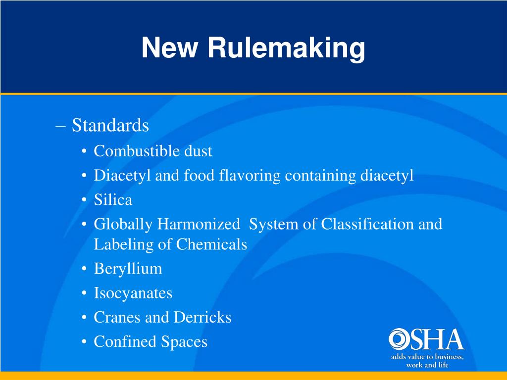 New Rulemaking