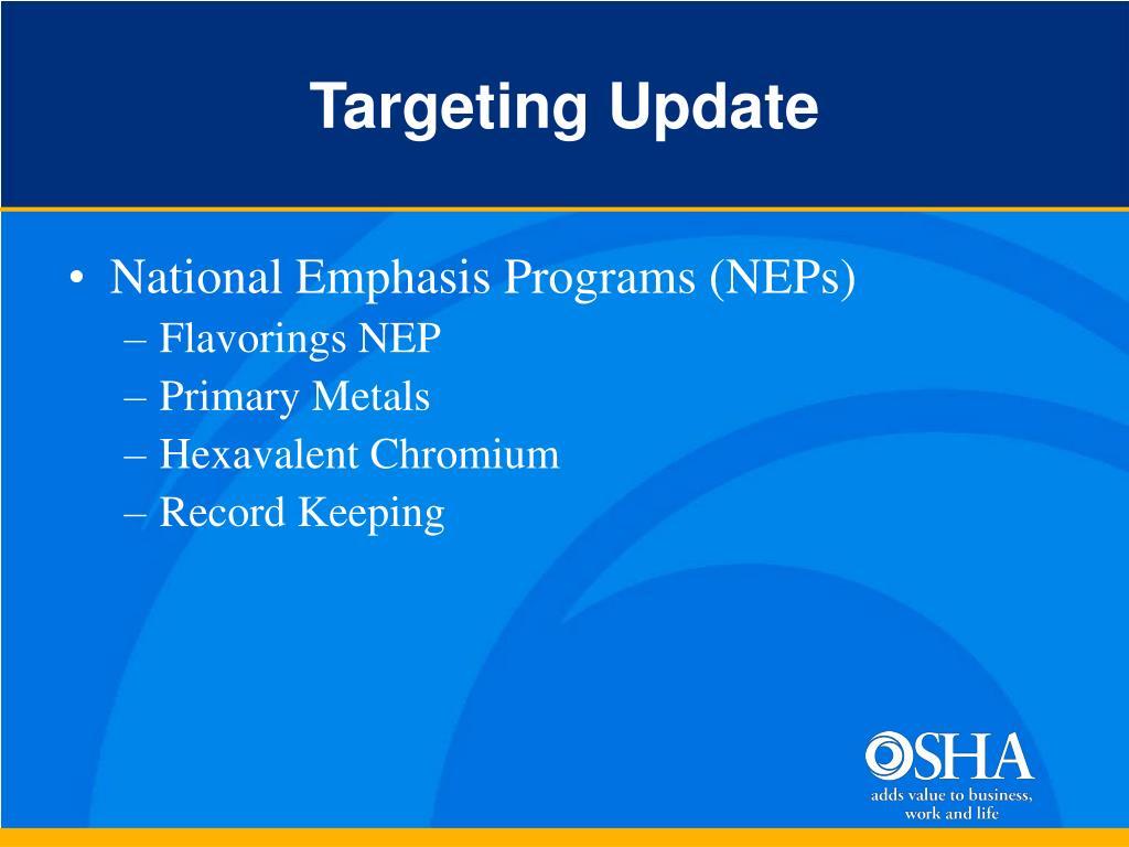 Targeting Update