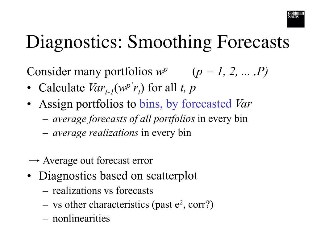 Diagnostics: Smoothing Forecasts