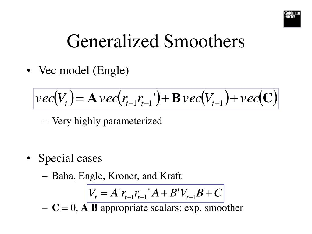 Generalized Smoothers