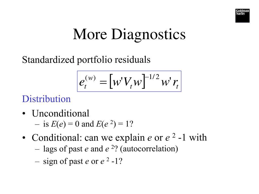 More Diagnostics