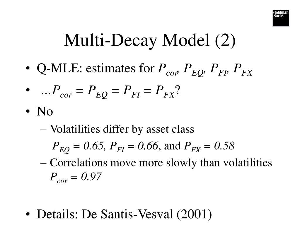 Multi-Decay Model (2)