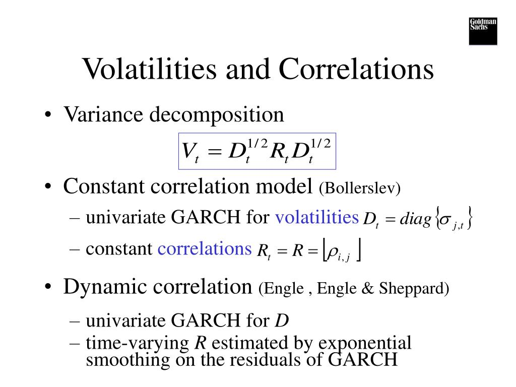 Volatilities and Correlations