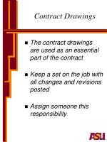 contract drawings