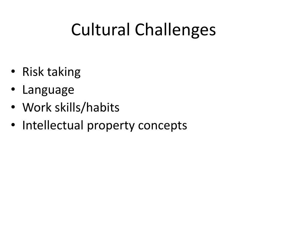 Cultural Challenges