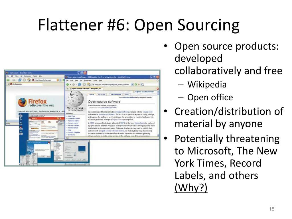 Flattener #6: Open Sourcing