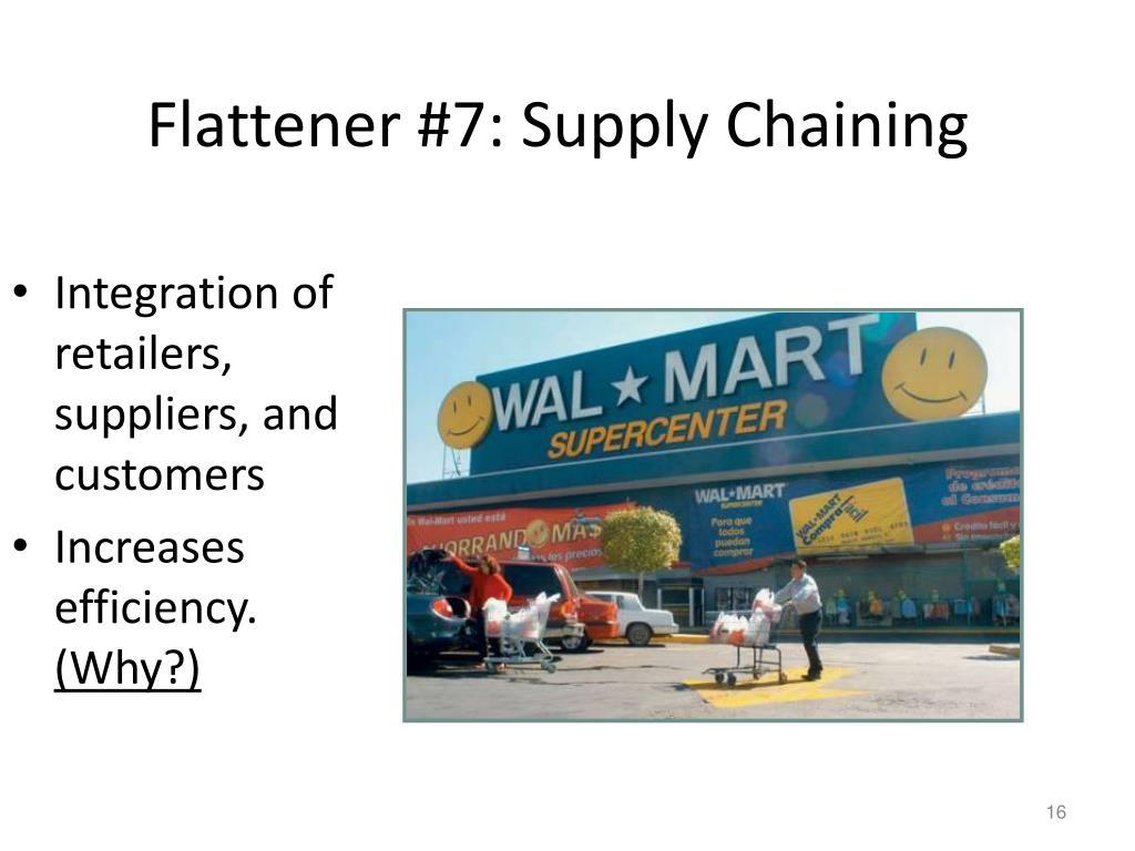 Flattener #7: Supply Chaining