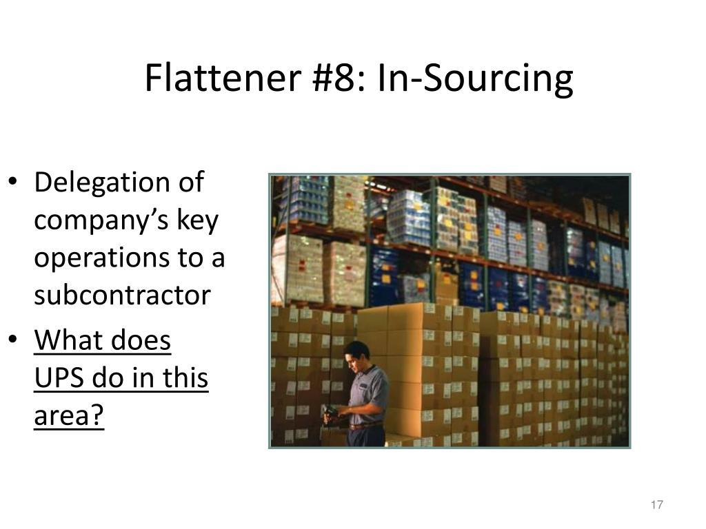 Flattener #8: In-Sourcing