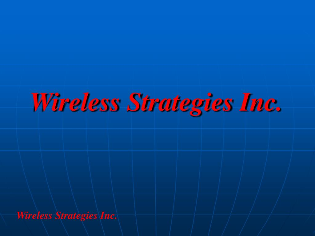 wireless strategies inc l.