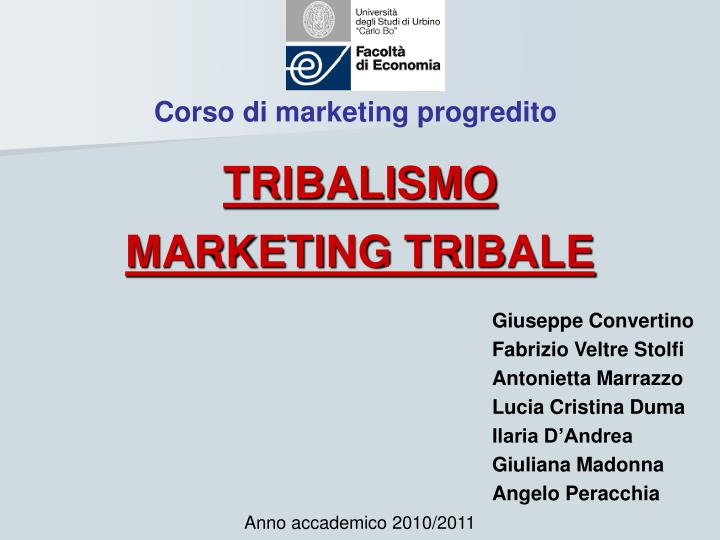 corso di marketing progredito n.