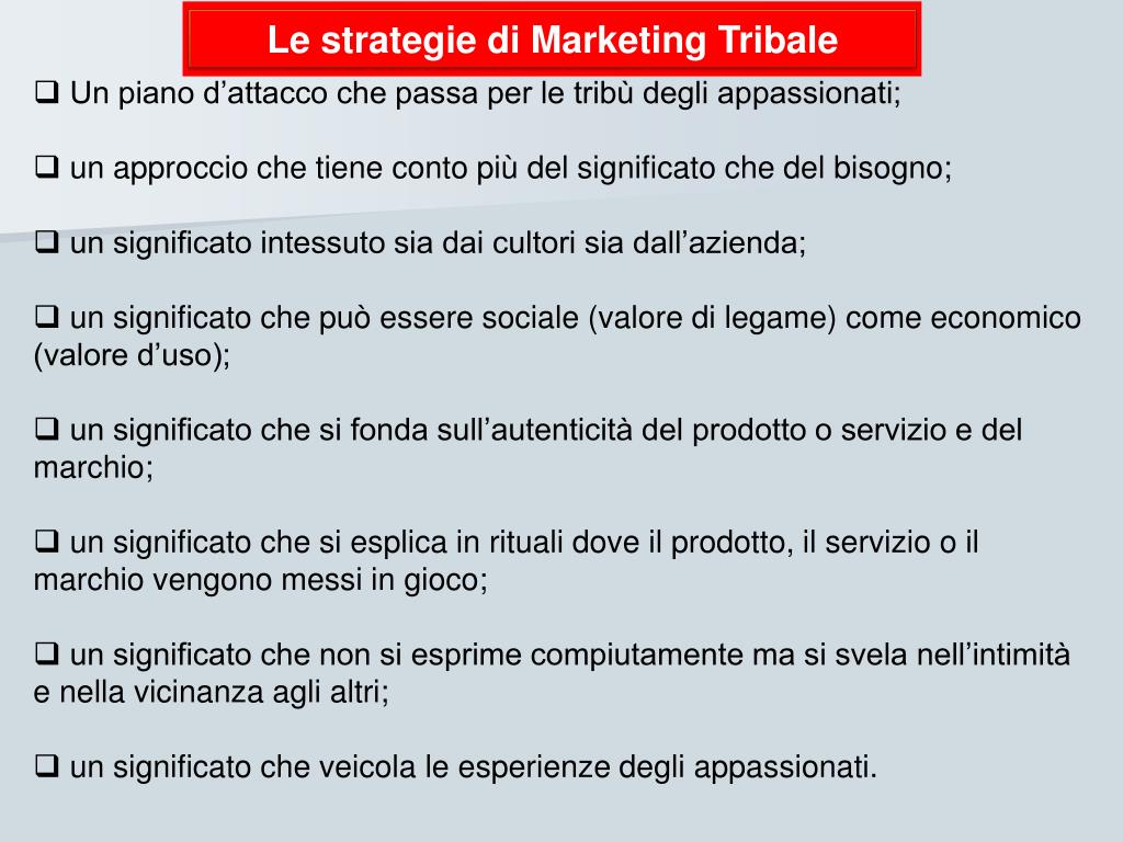 Le strategie di Marketing Tribale