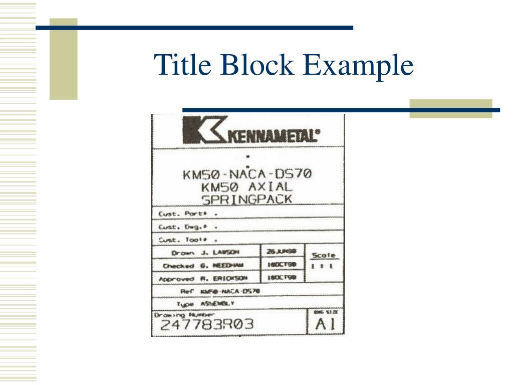 Title Block Example
