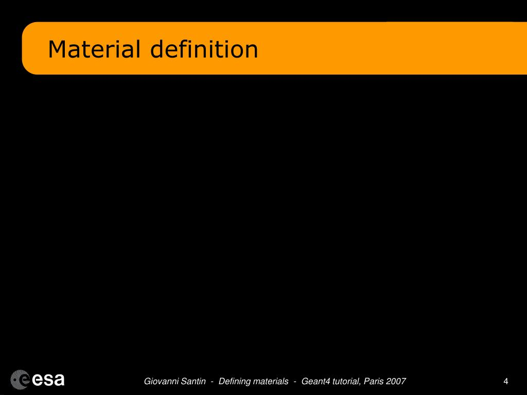 Material definition