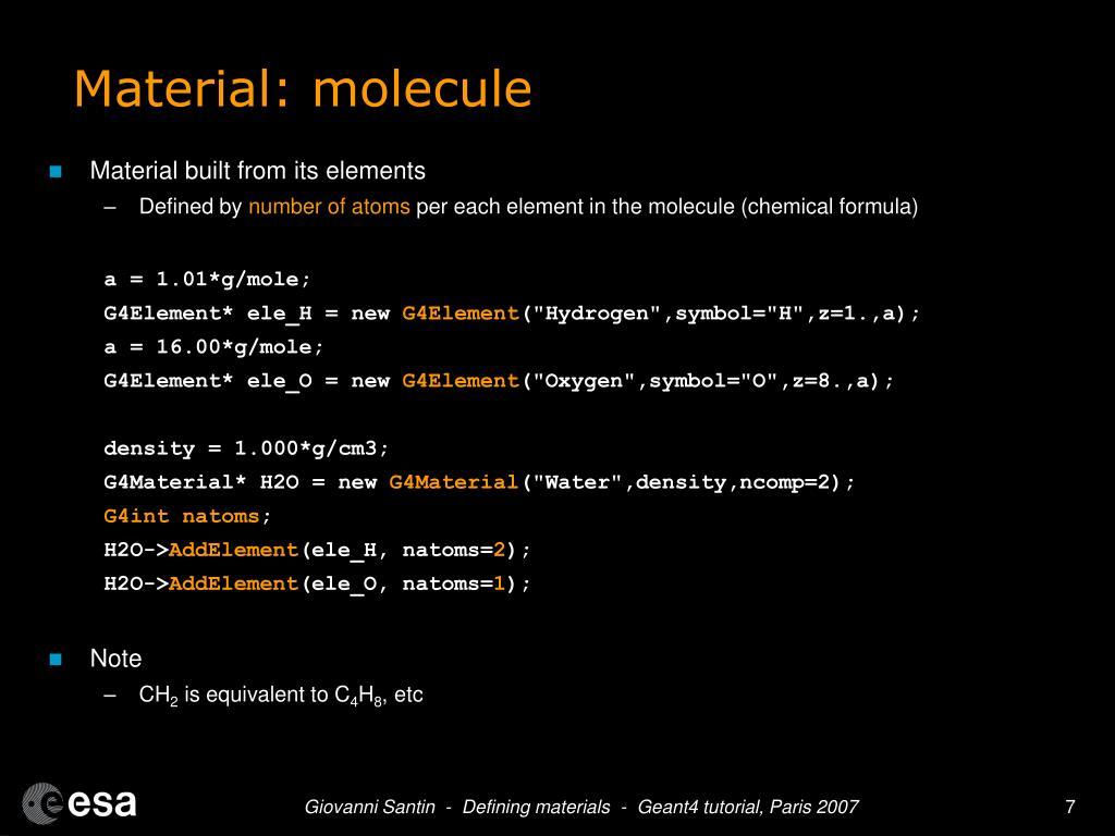 Material: molecule