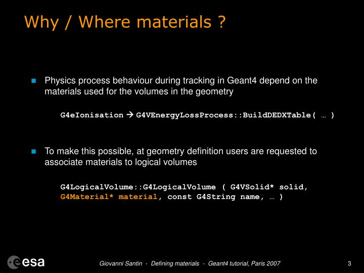 Why where materials