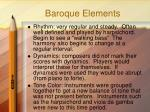 baroque elements
