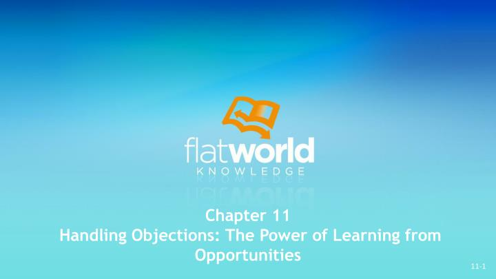 chapter 11 handling objections the power of learning from opportunities n.