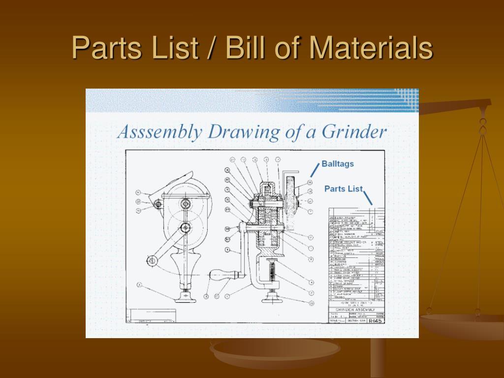 Parts List / Bill of Materials