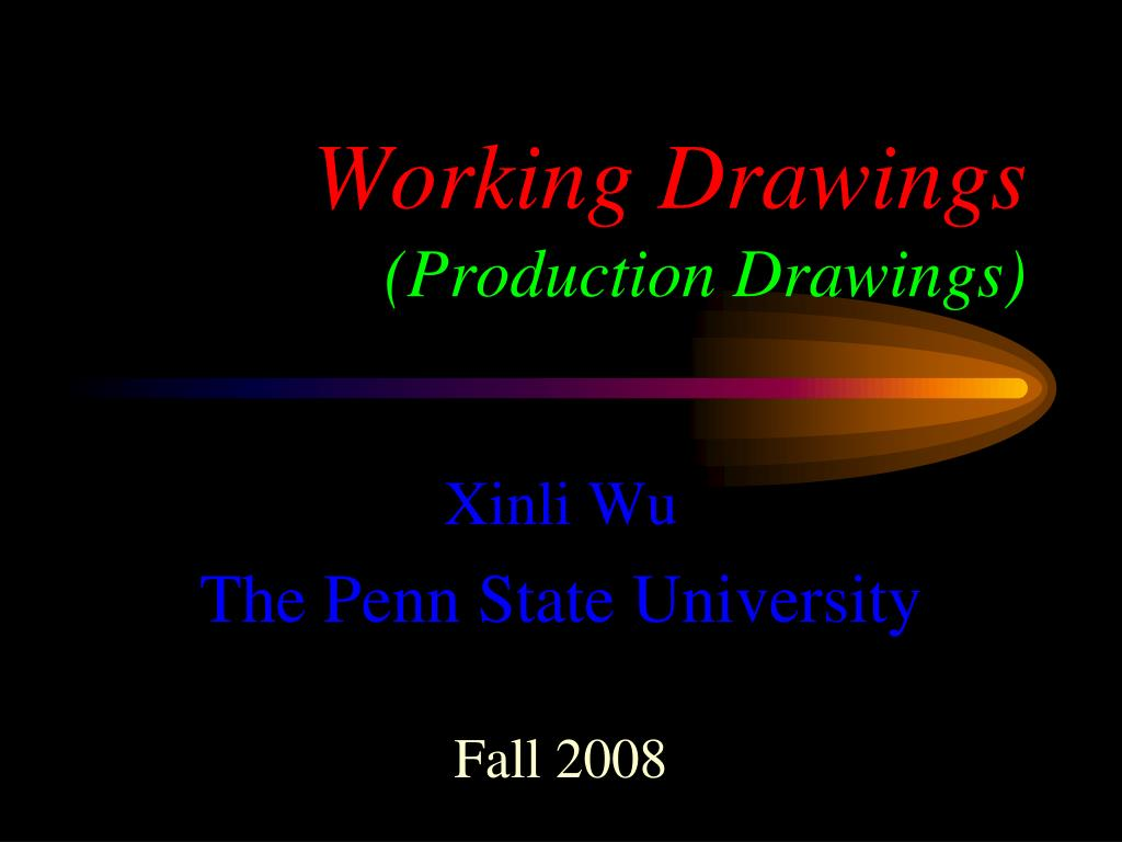 working drawings production drawings l.